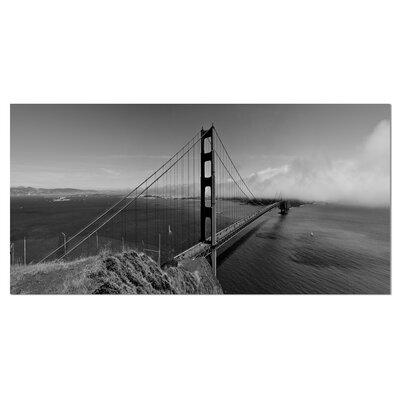 DesignArt Golden Gate Bridge in Gray Panorama Sea Bridge ...