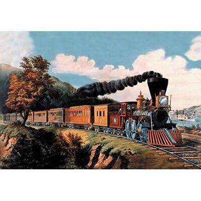Buyenlarge Steam Locomotive by Nathaniel Currier Painting...