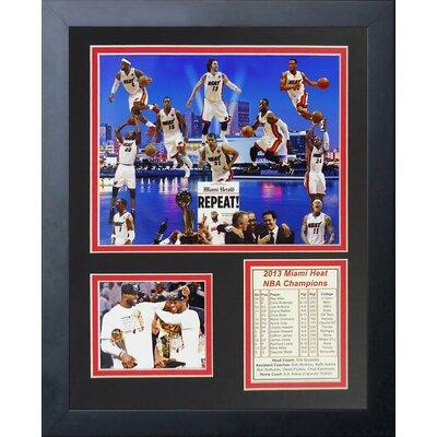 Legends Never Die 2013 Miami Heat NBA Champions Framed Me...