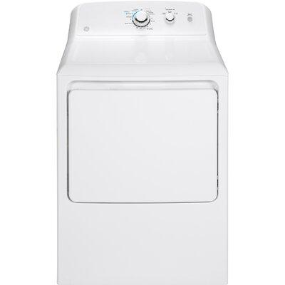 GE 6.2 Cu Ft Front Loading White Electric Dryer