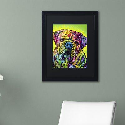 "Trademark Art ""Hey Bulldog"" by Dean Russo Matted Framed P..."