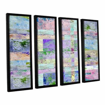 ArtWall 'Abstract I' by Greg Simanson 4 Piece Framed Grap...
