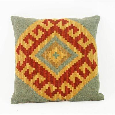 Loon Peak Korycki Kilim Throw Pillow Features: Material: Wool and cotton Product Type: Throw pillow Cover Material: Wool;Cotton blend Cover Material Details: Insert Included: Yes Legal Documentation: Color: Yellow/Red/Green Shape: Square Pillow Set: No...