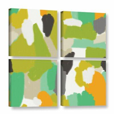 Mercer41 Abstract 200 4 Piece Graphic Art on Gallery Wrap...