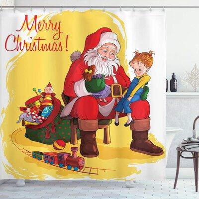 The Holiday Aisle Christmas Kid and Santa Gifts Shower Cu...