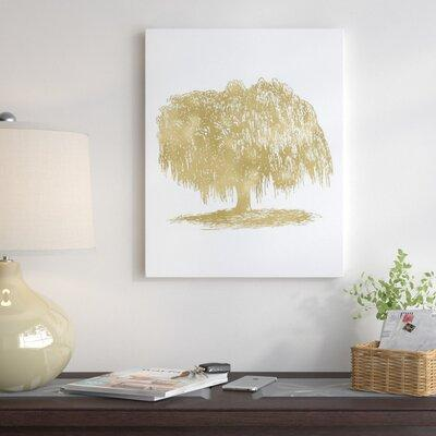 East Urban Home Weeping Willow Tree Graphic Art on Wrappe...