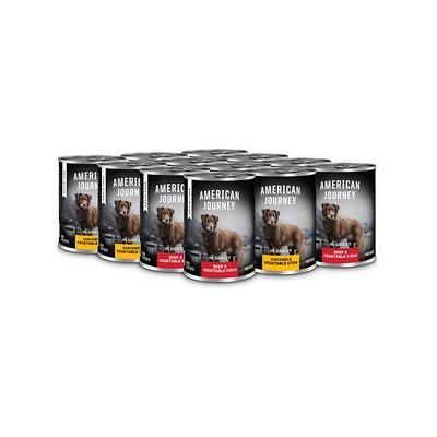 American Journey Stews Poultry & Beef Variety Pack Grain-Free Canned Dog Food, 12.5-oz, case of 12