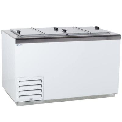 Excellence Industries HFF-8HC 54.25 Stand Alone Ice Cream Dipping Cabinet w/ 21 Tub Capacity - White, 115v