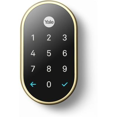 Nest Yale Polished Brass Lock with Nest Connect