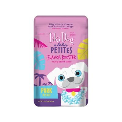 Tiki Dog Aloha Petites Flavor Booster Pork Bisque Grain-F...
