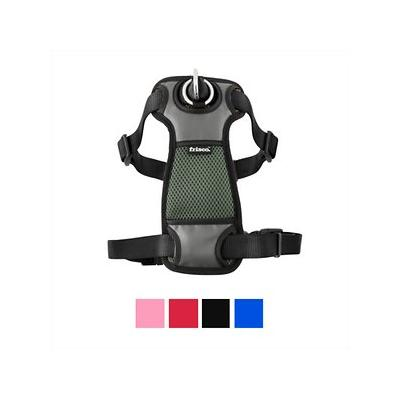 Frisco Padded Front Lead Dog Harness, Black, 26 to 40-in; The Frisco Padded Front Lead Dog Harness is a great option for pet parents looking for a comfortable harness that will give them additional control on their walks. Made with high-quality nylon...