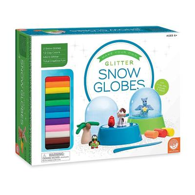 MindWare Make Your Own Glitter Snow Globes Kit, Multicolor