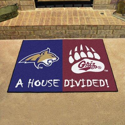 Fan Mats House Divided - Montana / Montana State Doormat 12663