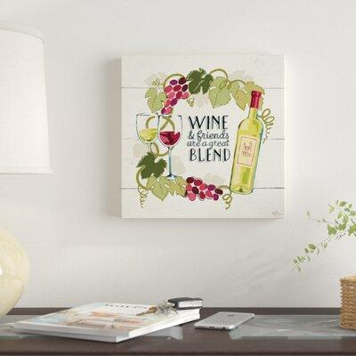 East Urban Home 'Wine and Friends V' Textual Art on Canva...