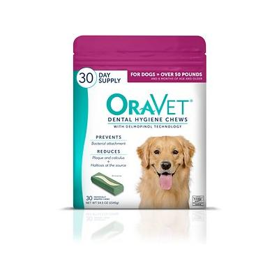 OraVet Dental Hygiene Chews for Dogs, over 50 lbs, 30 count