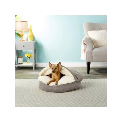Snoozer Pet Products Luxury Microsuede Cozy Cave Dog & Cat Bed, Dark Chocolate, Small