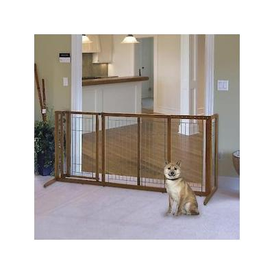 Richell Deluxe Freestanding Gate with Door for Dogs & Cat...