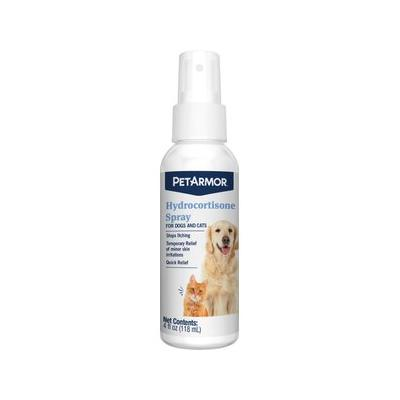 PetArmor Hydrocortisone Quick Relief Spray for Dogs & Cats, 4-oz bottle