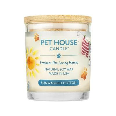 Pet House Sunwashed Cotton Natural Soy Candle, 8.5-oz jar
