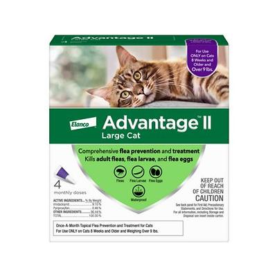 Advantage II Flea Treatment for Large Cats Over 9 lbs, 4 treatments