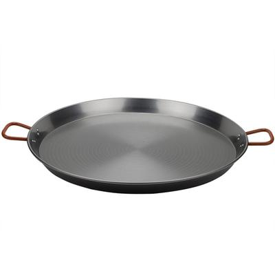 "Matfer Bourgeat 071050 27 1/2"" Polished Steel Paella Pan"