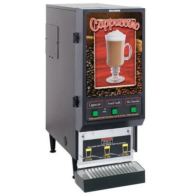Bunn FMD-3 Hot Powdered Drink Machine, 3 Hoppers, Cafe Display, 120v
