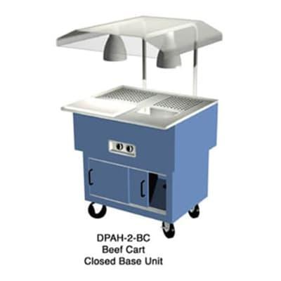 Duke DPAH-2-BC Portable Beef Cart w/ Au Jus & Spillage Pan, Carving Board, Meat Spike, 120 V