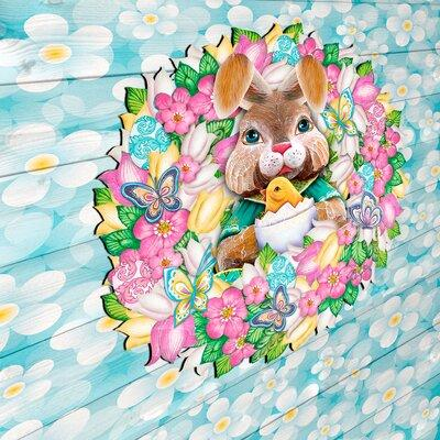 The Holiday Aisle Easter Bunny Wreath Spring Holiday Door...