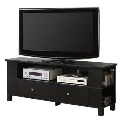 60 Inch Wood TV Console with Multi-purpose Storage - Walk...