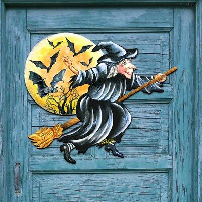 The Holiday Aisle Fall Decor Halloween Witch Wooden Door ...
