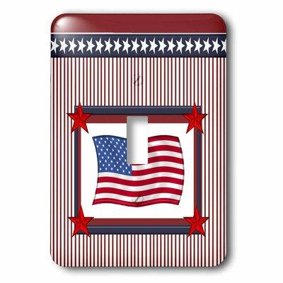 3dRose American Flag in Frame of Stars and Stripes and So...