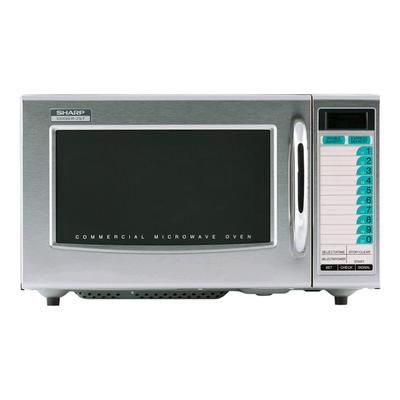 Sharp R21LTF 1000w Commercial Microwave w/ Touch Pad, 120v