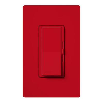 Lutron 49918 - 120 volt Hot Red 300 watt Toggler Single-Pole Electronic Low Voltage Wall Dimmer Switch