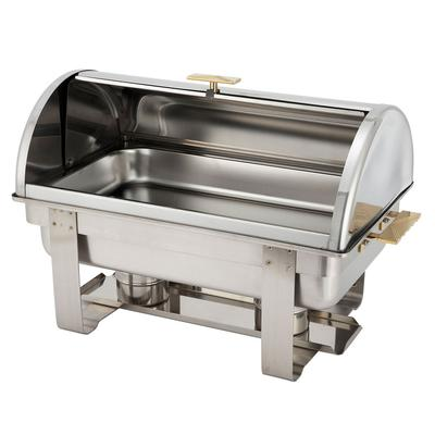 Winco C-5080 Full Size Chafer w/ Roll-top Lid & Chafing F...