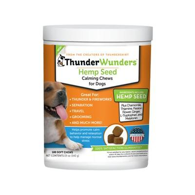 ThunderWunders Hemp Calming Dog Chews, 180 Count