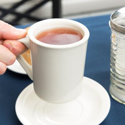 Core 8 oz. Ivory (American White) Rolled Edge China Mug -...