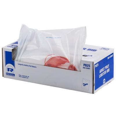 Royal Paper PB25 Disposable Lobster Bib - 500/Box