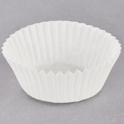 """Hoffmaster 610010 1 5/8"""" x 15/16"""" White Fluted Baking Cup..."""