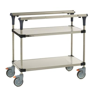 Metro MS1824-FGFG 2 Level Mobile PrepMate MultiStation w/ Solid Shelving - 26L x 19.4W x 39.13H