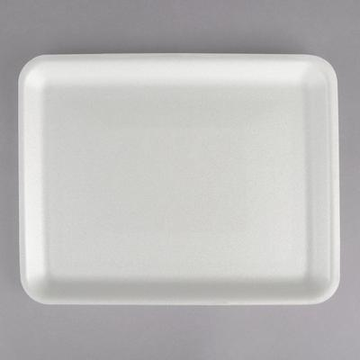 "Genpak Foam Meat Tray, White 9 1/4"" x 7 1/4"" x 1/2"" - 100..."
