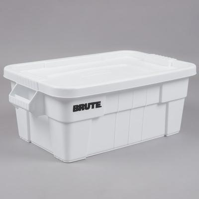 Rubbermaid FG9S3000WHT Brute 14 Gallon NSF Tote with Lid