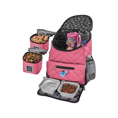 Overland Dog Gear Weekender Backpack Pet Travel Bag, Pink