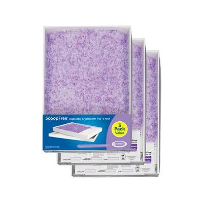 ScoopFree Lavender Crystal Cat Litter Tray Refills, 3 count