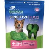 Ark Naturals Sensitive Gums Brushless Toothpaste 4-in-1 Dog Dental Chews, Medium Breeds, 20 - 40 lbs