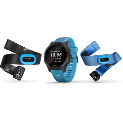 Garmin - Garmin Forerunner 945 Bundle Blue GPS Running Watch with HRMs