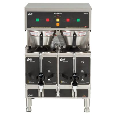 Curtis GEM-12D-10 Automatic Twin Coffee Brewer w/ (2) Lower Warmer & Hot Water Faucet, 220v/1ph on Sale