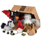 P.L.A.Y. Pet Lifestyle and You Mythical Creatures Set Plush Dog Toy, 5 count