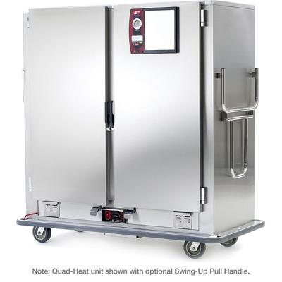 Metro MBQ-200D Heated Banquet Cart - (200) Plate Capacity, Stainless, 120v