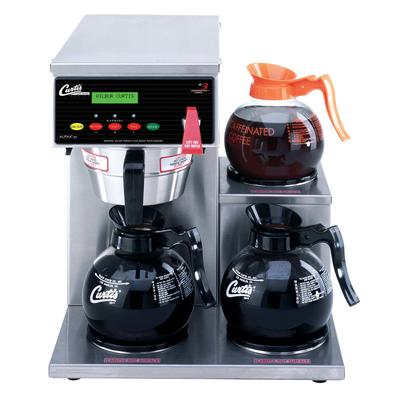 Curtis ALP3GTR12A000 Automatic Coffee Brewer w/ (2) Lower & (1) Upper Warmer & Hot Water Faucet, 120v