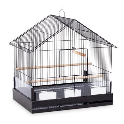 This roomy wire cage has all the design elements and amenities that make it ideal for your cockatiel or small parrot. It features a grill floor with a pull-out bottom tray for easy cleaning and generous front access door. Includes two perches, three...